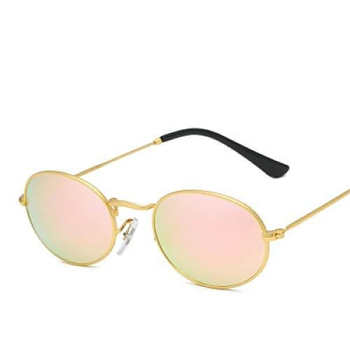 Gafas De Sol Gafas De Sol Ovaladas Retro A La Moda para Hombre Gafas De Sol Vintage para Mujer Gafas De Sol para Mujer Uv400 Goldpink