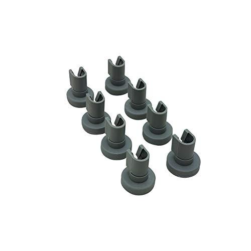 5028696700/0 - Juego de 8 ruedas para cesta superior de lavavajillas AEG Electrolux y muchos otros fabricantes de piezas de repuesto