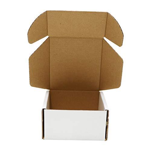 ZhaoCo Scatole di Cartone Imballaggio Piatte 50 Pezzi 102x102x51 mm | Piccola Scatola Cartone Ondulato per la spedizione o lo stoccaggio Bianca