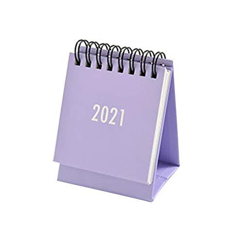 luminiu Calendario de mesa 2020 hasta 2021, mini calendario de mesa - Standing Flip 2021 - Calendario de escritorio de pie - Planificador mensual - Pequeño calendario perpetuo