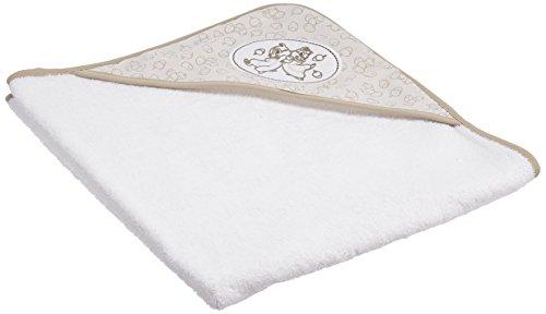 Bébé-jou 301036 Serviette de bébé – Serviette de bébé (beige, blanc, coton, image, lavage A Machine)