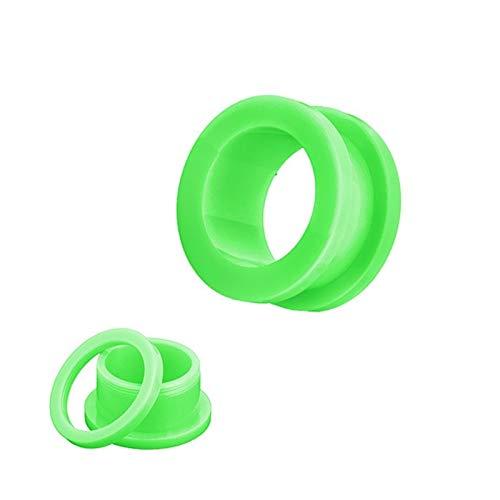 2 Unids/Lote Acrílico Tapones De Oreja Y Túneles Ear Ear Expander Stripers Strongs Kit Piercing Set Body Jewelry (Main Stone Color : 4mm, Metal Color : Green)