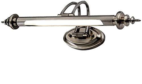 Modern LED Metall Spiegelleuchte Spiegellampe Wandleuchte Badezimmer Make Up Spiegel Licht Wasserdicht Wandlampe Badzimmer Küche Weiße Licht 6000K, 45cm
