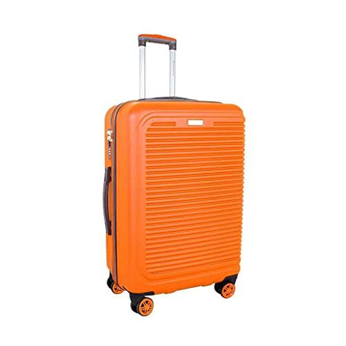 ATX Bagages à bagages ultra léger et durable ABS rigide pour valises de voyage Valise à roulettes avec 8 roues intégrée à 3 chiffres, Orange 111 (Orange) - ATX111
