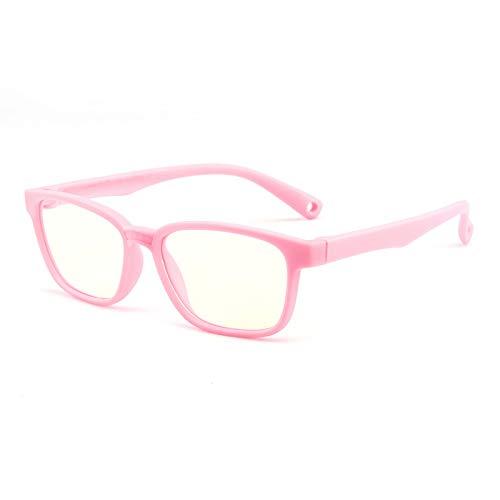 Suertree Anti Blaulicht Brille Kinder Blaulichtfilter Gläser für Computer,TV,Online-Unterricht Brillengestell