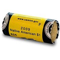 2009 P Native American Sacagawea Original Unopened US Mint Roll Brilliant Uncirculated