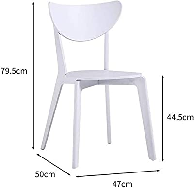 Chair Nordic Plastic Dining Chair, Creative Leisure Chair Backrest Restaurant Stool Office Leisure Chair Coffee Chair Office Chair (Color : Blue)