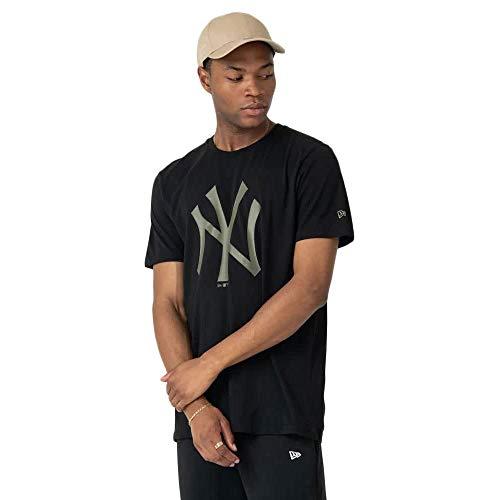 New Era Camiseta Hombre MLB Seasonal NY Negra Medium Negro