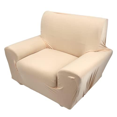 Jeanoko Funda de sofá para sofá, funda de sofá individual, de alta elasticidad, beige, burdeos, marrón, azul, gris para el hogar (beige)