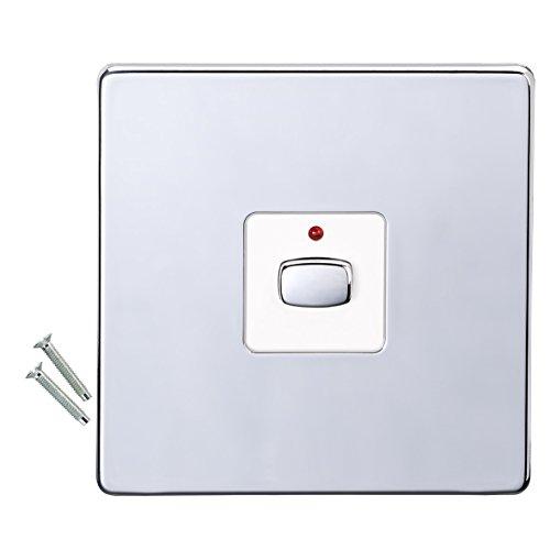 EnerGenie MiHome Smart Polished Chrome 1 Gang Dimmer Interruptor de luz - Interruptores de luz