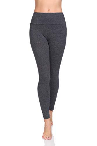 Soft Sail Damen Leggings, hohe Taille, Bauchkontrolle, weiche Baumwolle Gr. 38 EU/M Graphit