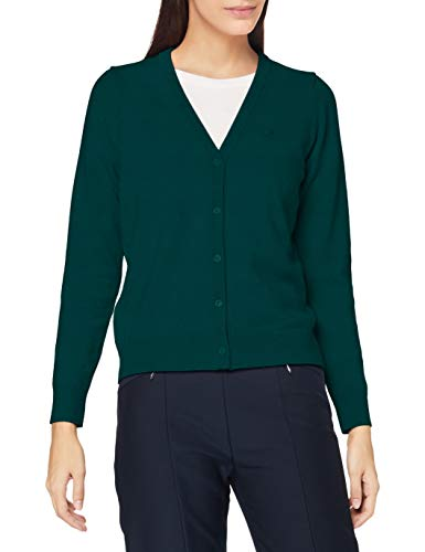GANT Damen Superfine Lambswool Cardigan Pullover, IVY Green, XL