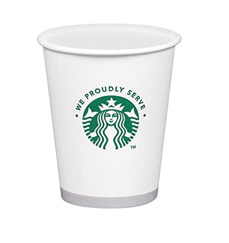 Starbucks Weiße Einweg-Heißpapierbecher, 340 ml, 50 Stück