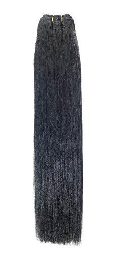 Euro soyeux tissage | Extensions de cheveux humains | 45,7 cm | Noir de jais (1) American Pride