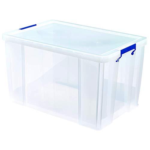 BANKERS BOX ProStore Große Aufbewahrungsbox mit Deckel 85 Liter aus Plastik (Innenmaße 37,5 x 57,5 x 38cm), 1 Stück