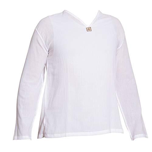 PANASIAM Shirt, 'K', NoButton, white, XL, longsl.