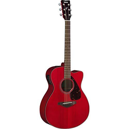 YAMAHA FSX800CRRII - Guitarra eléctrica acústica, Rojo (Ruby Red)