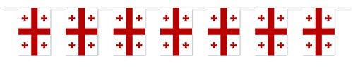 Everflag Papierfahnen-Kette 5m : Georgien
