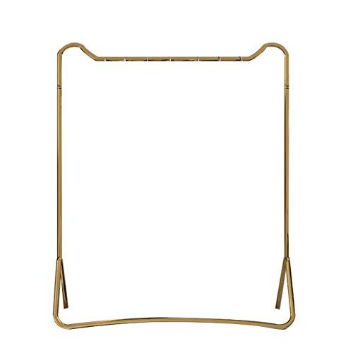 LYLY Perchero Soporte de la Perilla de la Capa caída Simple Modern Metal Secking Racks Dormitorio Dormitorio Home (Negro/Oro) Mueble (Color : Gold)