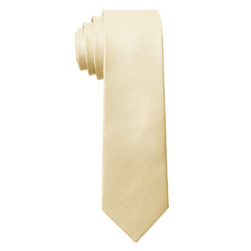 MASADA Corbata para Hombre elaborada a mano y con gran esmero 6 cm de ancho - Champaña