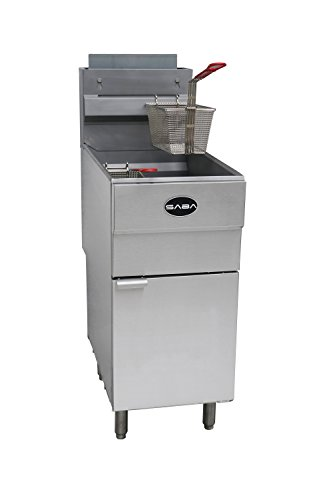 "SABA Heavy Duty Stainless Steel 30"" Commercial Propane Fryer 45 lb"
