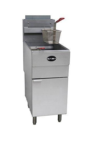 "SABA Heavy Duty Stainless Steel 30"" Commercial Propane Fryer 45 lb"