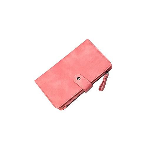FEINENGSHUAInsqb Bolso Monedero, Billetera para Mujeres, pequeñas y Ligeras, de Gran Capacidad, multifunción, fácil de almacenar, Delicado (Color : Pink)