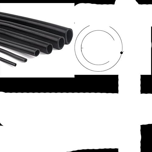 1 m / lote tubo de silicona negro ID 1 ~ 9 mm manguera de bomba de aire flexible acuario manguera de goma suave tubo de aireación resistente al calor de alta calidad-5x9,1m