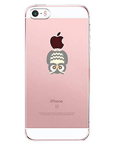 AIsoar ® Coque iPhone Se,iPhone 5,iPhone 5S Case, Transparente Ultra Mince Silicone Antichoc Housse TPU de Protection arrière Résistant aux Rayures Chiot Couverture (Hibou)