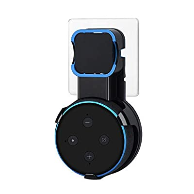 Echo do Wall Mount Stand for Dot 3rd Generation, Enhanced Sound Quality, Cable Management without Screws, Dot Holder Accessories Designed (Black) from Bluechok