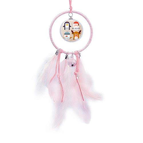 Beauty Gift Merry Christmas Tree Reindeer Portrait Dream Catcher Small Bell Bedroom Decor