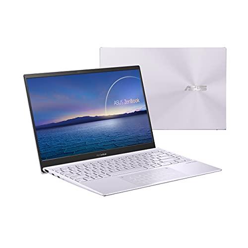 ASUS ZenBook 14 UX425EA-KI359 - Portátil  Full HD (Core i7-1165G7, 16GB RAM, 512GB SSD, Iris Xe Graphics, Sin Sistema Operativo) Lila Neblina - Teclado QWERTY español