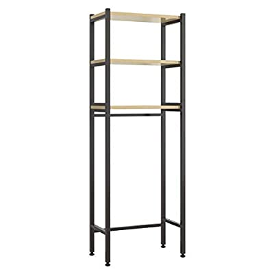 UDEAR 3 Shelf Bathroom Space Saver,Over The Toilet Rack,Bathroom Corner Stand Storage Organizer Accessories,Bathroom Tower Shelf,Space Saver,Black