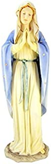 Blessed Virgin Mary Our Lady of Grace 11 3/4 Inch Light Color Stone Statue Religious Decoration