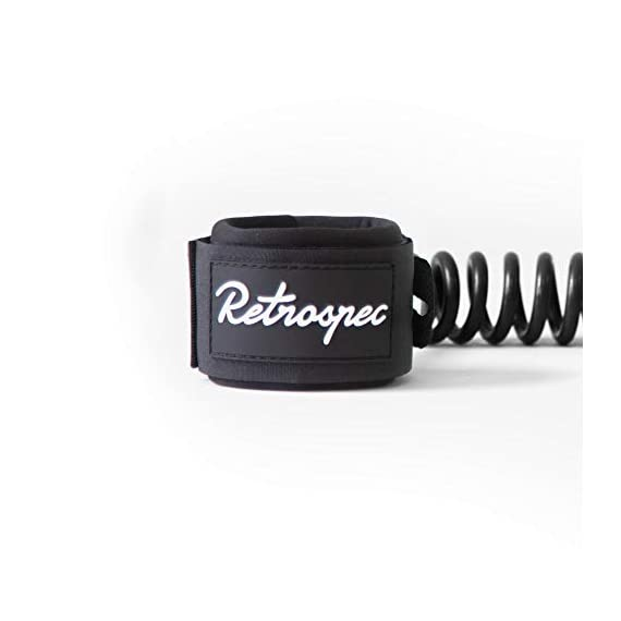 Retrospec Helix 10' Coiled Leash for Stand Up Paddleboarding 2 Extremely long-lasting and hard-wearing leash for standup paddle boards Measures 10' long when stretched Keeps your board securely attached to you at all times