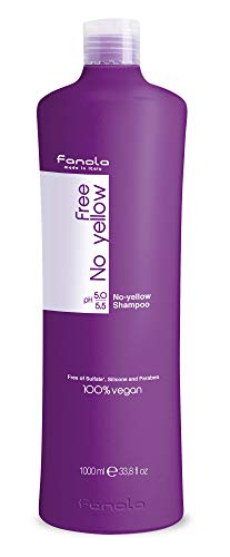 Fanola Free No Yellow Vegan Shampoo, 1000 ml
