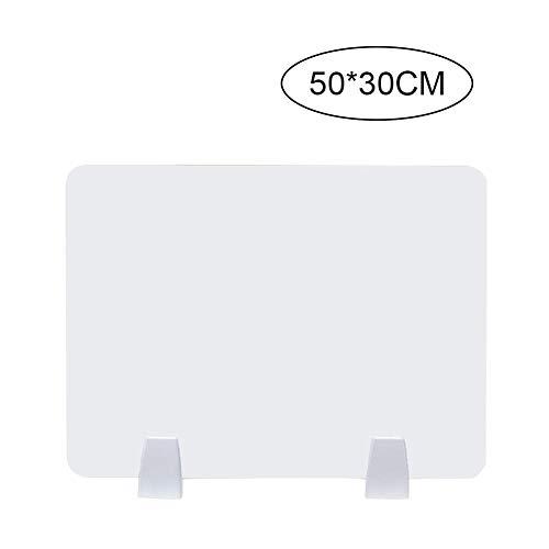 Panel de escritorio Homemust, Tablero de pantalla acrílica con separador de mesa deflectora de escritorio con abrazadera para oficina