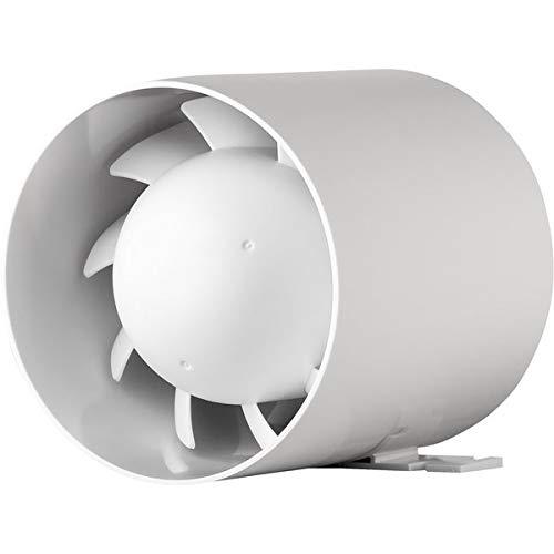 Kanal Rohrventilator Rohreinschub Abluft Lüfter Rohr Ventilator Leise Ø 100 mm 10 cm Rohrlüfter 15W / 105m³