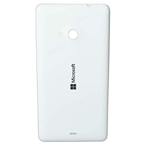 waipawama Copribatteria compatibile con Microsoft Nokia Lumia 535, posteriore, bianco