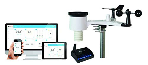 Ambient Weather WS-1550-IP Smart Weather Station w/ Remote Monitoring & Alerts - Compatible with Alexa & Google Assistant