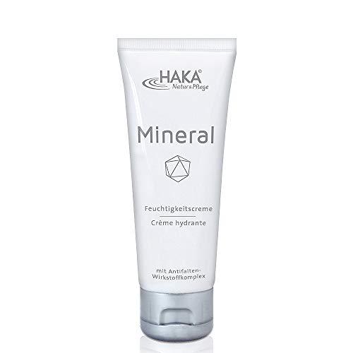 HAKA Feuchtigkeitscreme Mineral I 75 ml Tube I Anti Falten Creme für Damen I Tagescreme, Nachtcreme mit Zink, Magnesium und Kupfer I Feuchtigkeitspflege