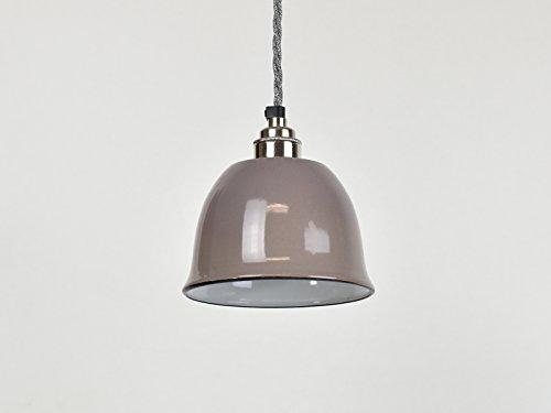 Petite tasse Gris Bell industriel en émail vintage Factory entrepôt Style Ombre lampe de lumière