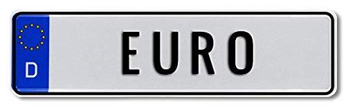 Bobby Car Kettcar Tretauto Namensschild Junior Kennzeichen Kidsplate BobbyCar nach ihrem Wunsch geprägt Größe 340mm x 90mm (Euro)