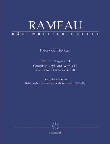 RAMEAU - Piezas de Clavecin Vol.3 para Piano (Rampe) ⭐