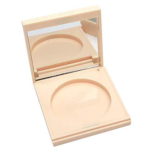CUTICATE 5-6g Vide Boîte de Poudre Libre Contenant Rechargeable pour Fond de Teint Poudre à Paupières Crème Bb avec Miroir de Maquillage - Chair