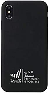 iPhone X/XS Max Case | The Emirates Impossible Possible (Black) - All around protection, Soft Microfiber Lining Anti-Scrat...