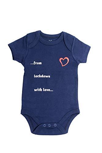 Emmis Glück Baby Body from Lockdown with Love Gr. 50/56 Geschenk zur Geburt 100% Baumwolle