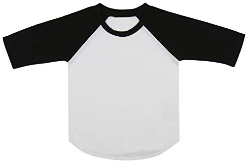 ToBeInStyle Baby Cotton Contrast Raglan Sleeve Top - Wht/Black - 24M