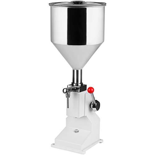 BestEquip A03 Liquid Filling Machine, Bottle Filler 5-50ml, Manual Liquid Filling Machine, Stainless Steel Bottle Filling Machine for Paste Cream Cosmetic
