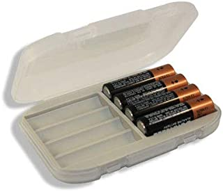 Malamute Rugged AA Battery Organizer - Hard Shell Storage Case Holds 8 AAs, Traction Feet, Made in the USA (Grey)